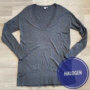 Halogen V- neck Sweater